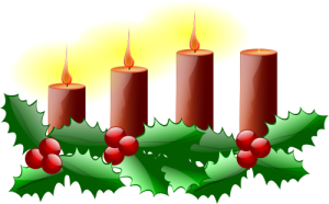 Third week of Advent candle