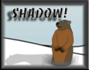 Ground Hog with Shadow