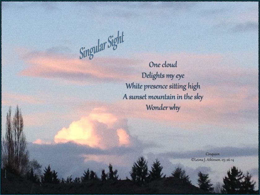 sunset, cloud, sky, Cinquain poetry