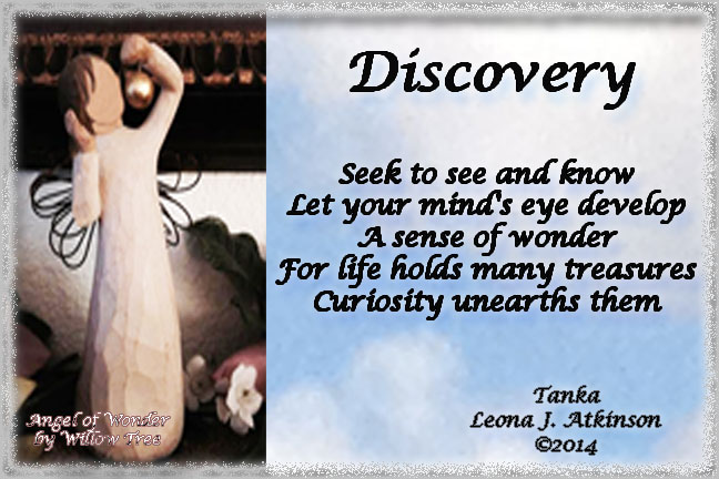Discovery poem with Angel of Wonder photo