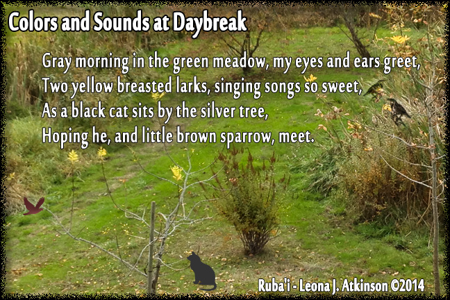 Daybreak in the Meadow--Ruba'i poem