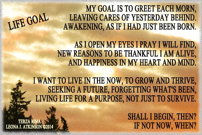 Life Goal--Terza rima poem