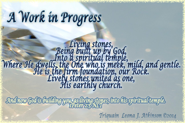 Living Stones-Triquain-based on 1Peter2:5