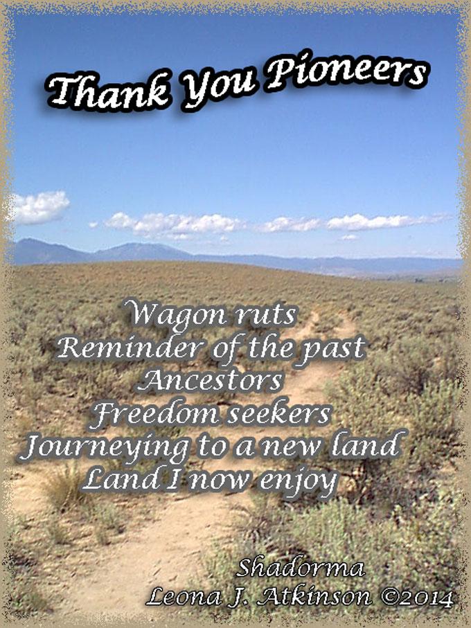 Wagon Ruts on the Oregon Trail--Shadorma poem