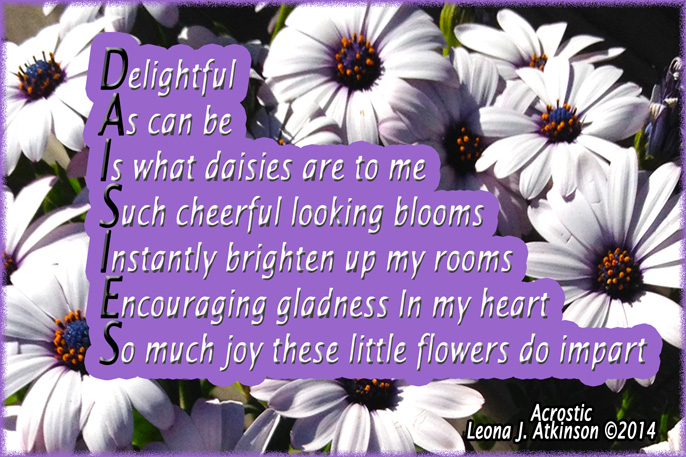 Daisies–Ac... Poems About Daisy Flowers