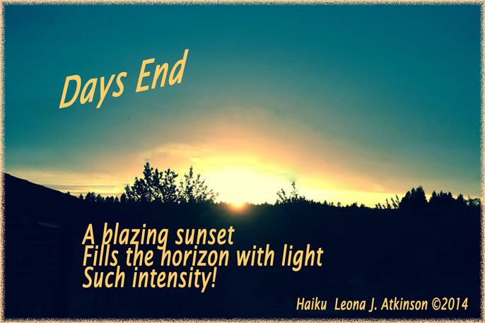 Days End--Sunset--Haiku