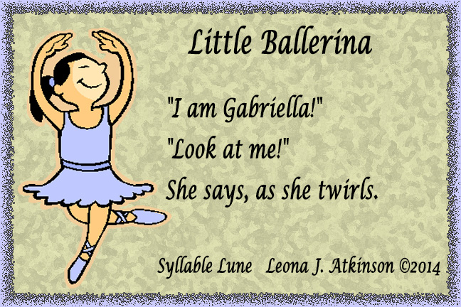 Little Ballerina--Syllable Lune