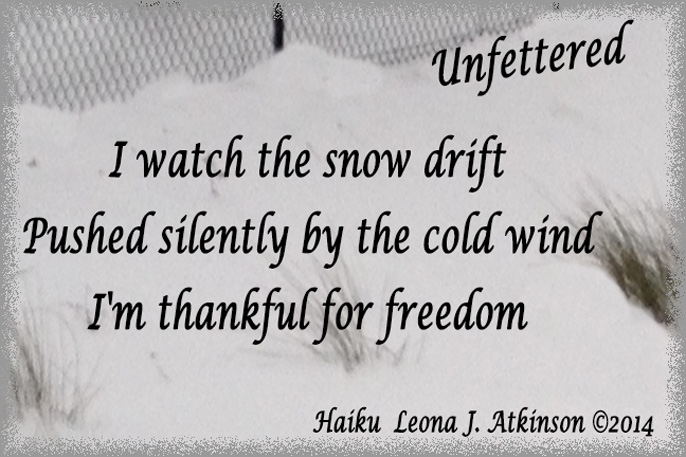 Unfettered-Haiku -snow-drift