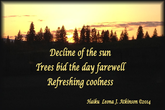 Day's Decline--Haiku--sunset