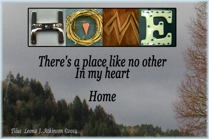 HOME--Tilus poem with Alphabet Art