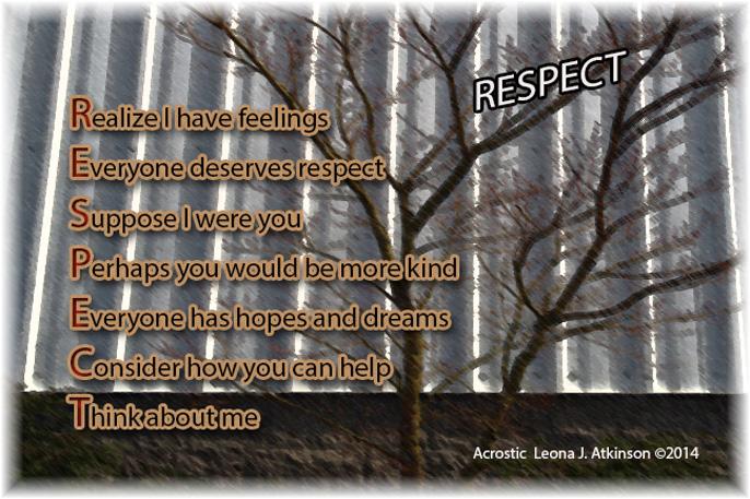 RESPECT Acrostic poem