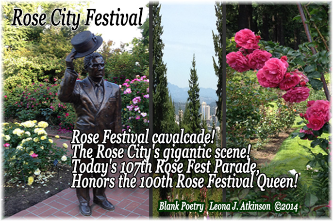 Rose Festival 2014-Portland, OR.--Blank Poem