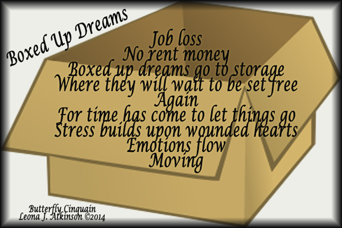 Boxed Up Dreams--Butterfly Cinquain poem