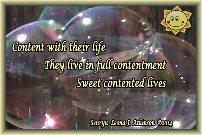Senryu poem about contentment