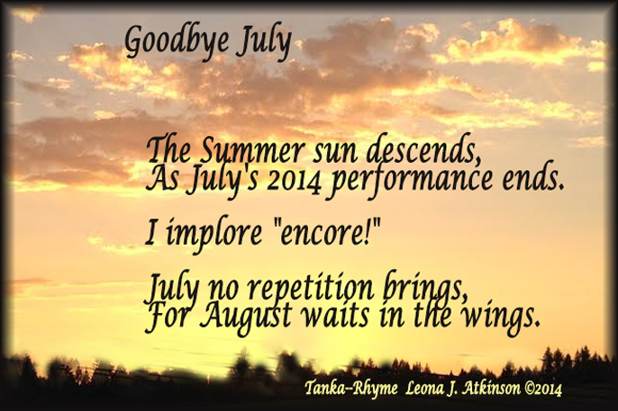 Sunset--Tanka-Rhyme--poetry about July 2014 last day