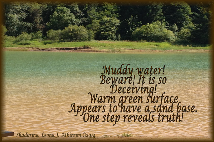 Muddy Water--Shadorma poem