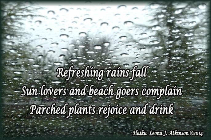 raindrops---haiku poem about refreshing rain