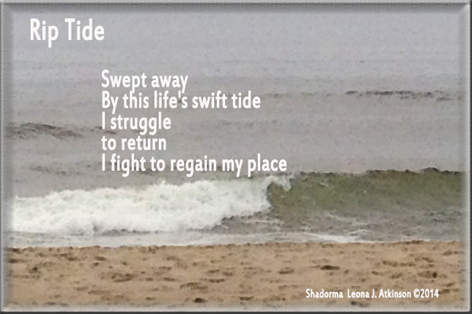 Shadorma poem titled Rip Tide--ocean waves photo