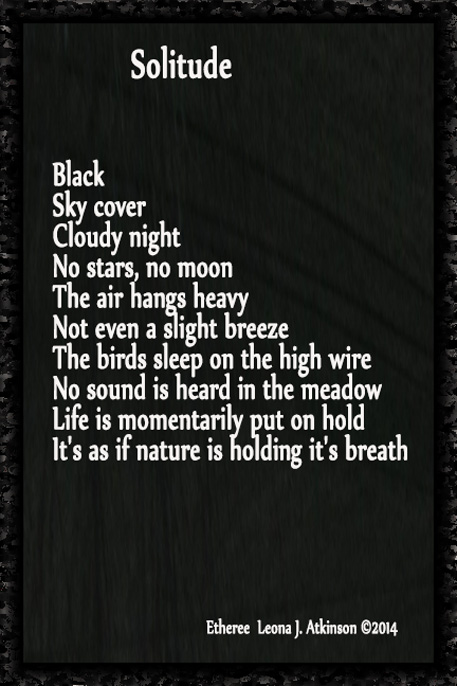 Solitude-dark night-Etheree poem