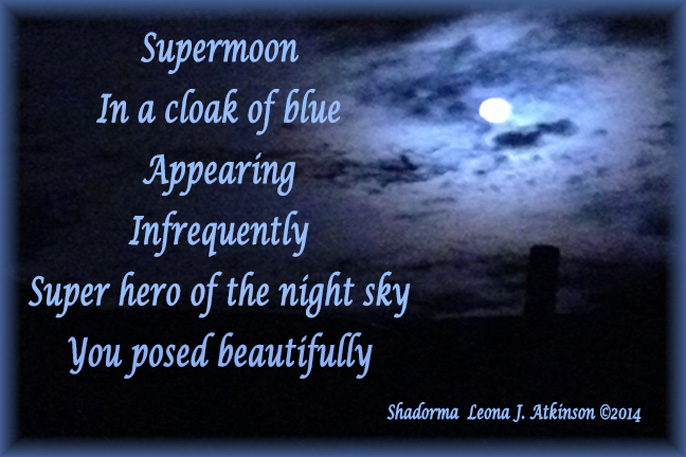 Super Moon photo July 2014--Shadorma poem