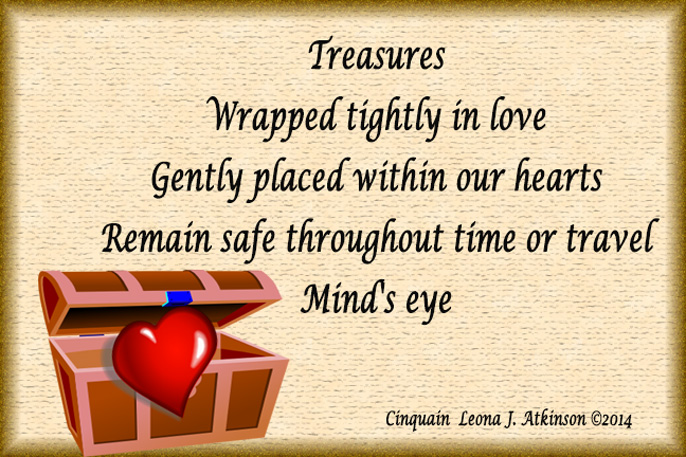 Memories--Cinquain poem about treasures of the heart