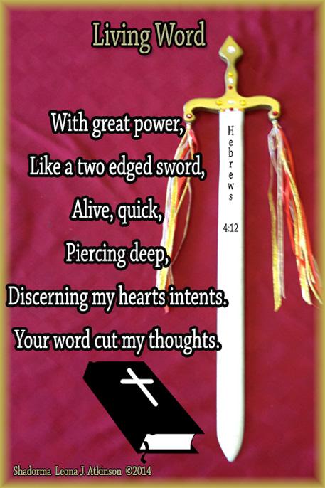Sword-Bible-Shadorma poem based on Hebrews 4:12