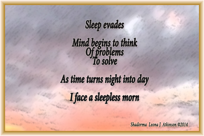 Sleepless--Shadorma poem-picture of sunrise