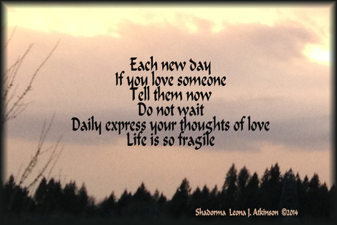 Sunrise--Shadorma poem
