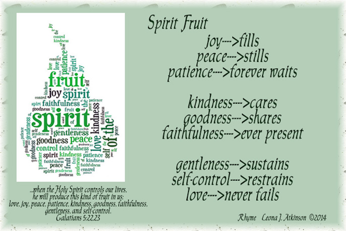 Fruit of the Spirit poem based on Galatians 5:22,23