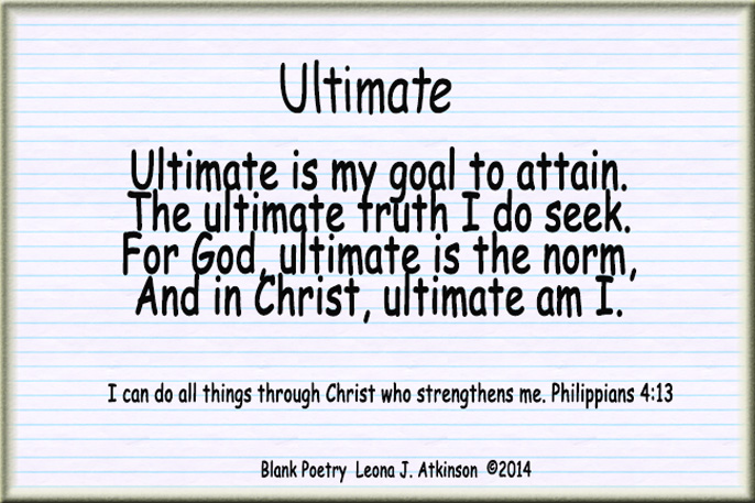 Ultimate--blank poetry