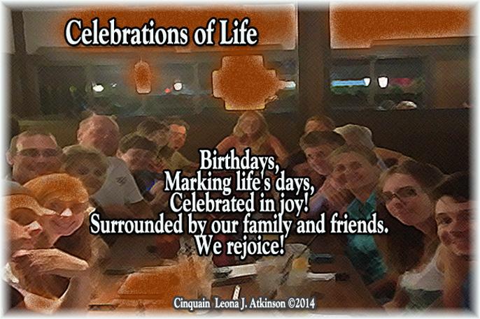 Birthday Celebrations-Cinquain poem