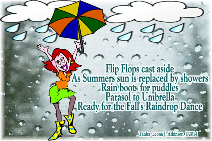 Tanka poem about fall rain