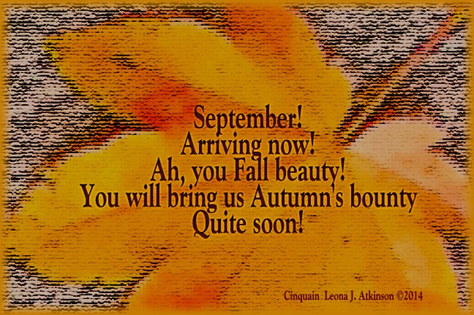 Fall Leaf--Cinquain poem about September Arriving