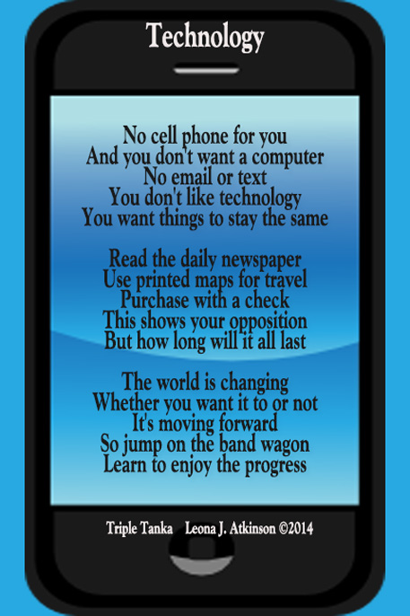 Technology--Triple Tanka poem
