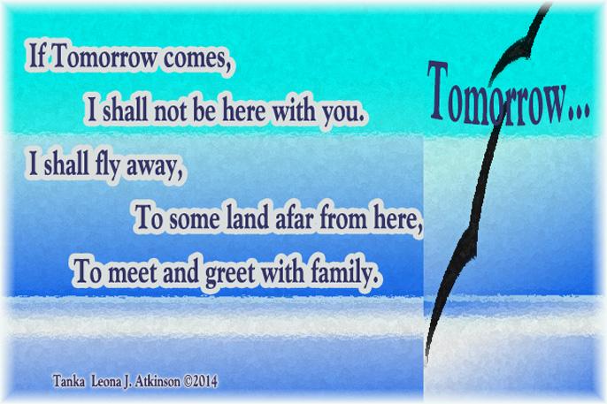Tomorrow a Tanka poem