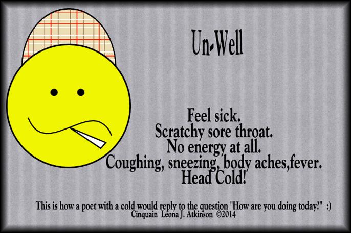 Cinquain poem about a head cold