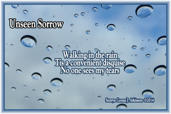 Senryu poem about rain and tears