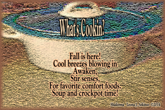 Shadorma poem about fall comfort foods and crockpot cooking
