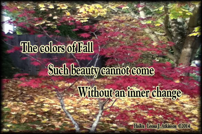 Change--Haiku about fall colors and change
