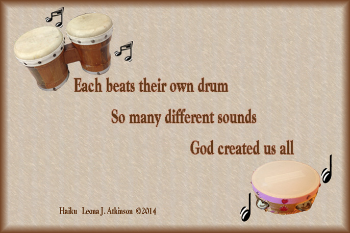 Haiku  about drums and drum beats