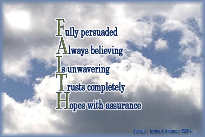 FAITH Acrostic poem