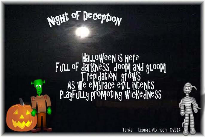 Tanka poem about the danger of celebrating Halloween