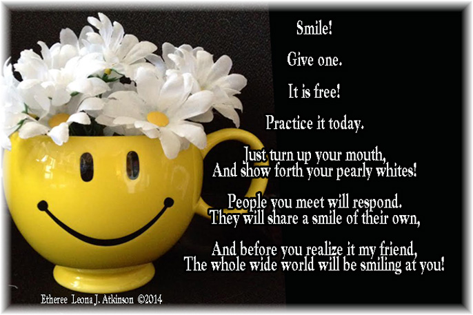 Share a Smile Etheree poem in honor of World Smile Day