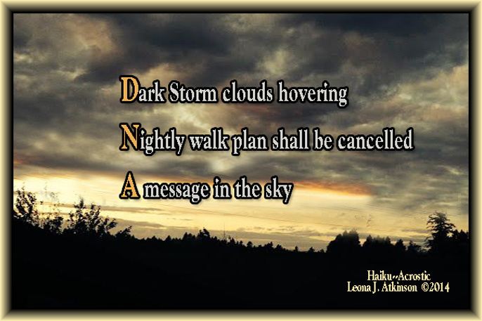 dark clouds in sky--Haiku/Acrostic poem