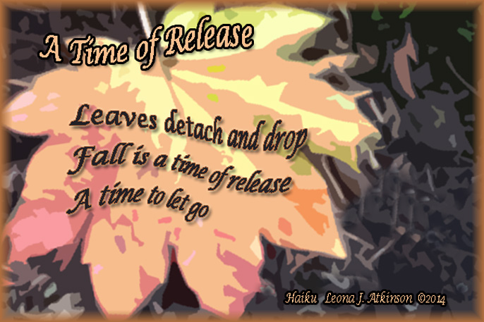 Haiku about fall, leaves and a time of release