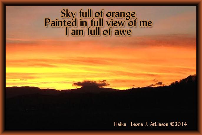 Sunset--Haiku poetry