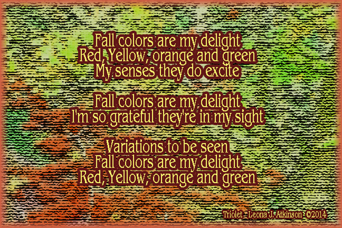 Triolet poem about the fall colors