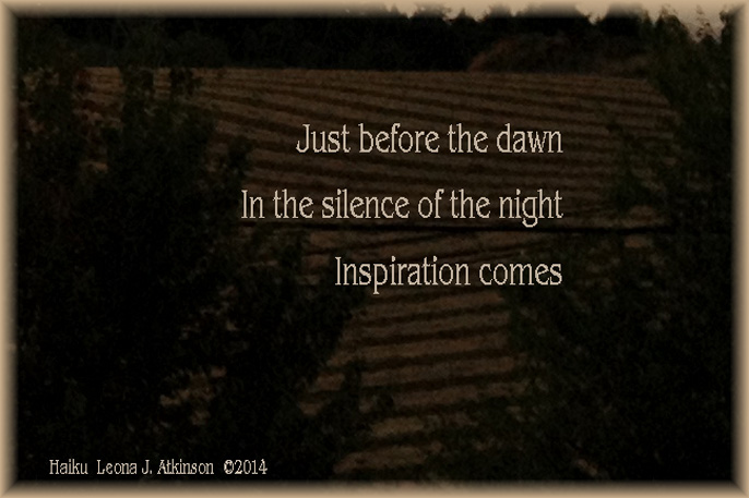 Haiku about inspiration, night and dawn