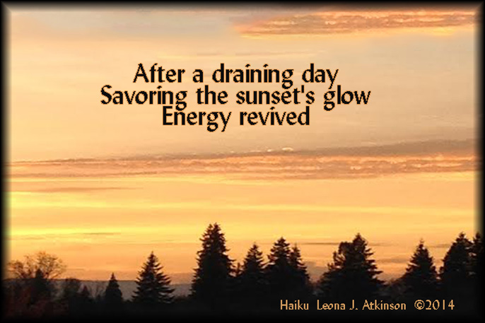 Sunset--Haiku poem