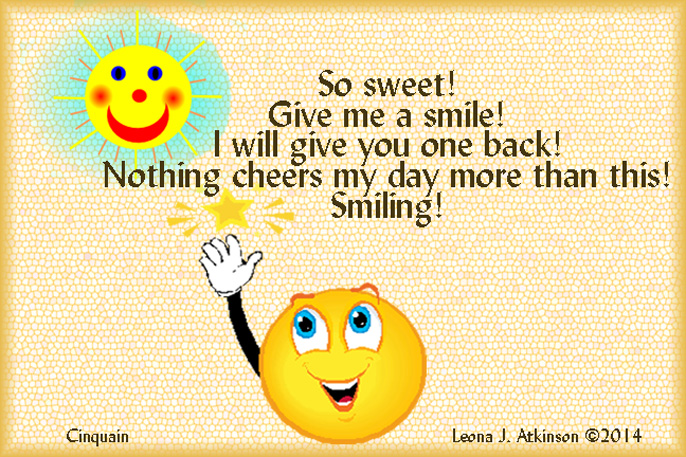 share a smile--cinquain poem